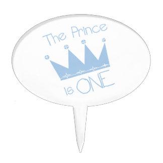 El príncipe es un primero de la torta de cumpleaño figura de tarta