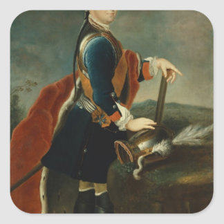 El Príncipe heredero Frederick II, c.1736 Colcomanias Cuadradases