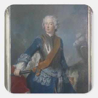 El Príncipe heredero Frederick II, c.1736 Pegatinas Cuadradases Personalizadas
