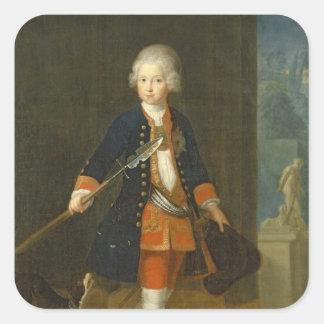 El Príncipe heredero Frederick II Calcomania Cuadradas