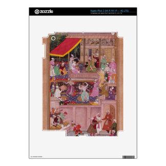 El príncipe joven con sus padres, del 'Akbar iPad 3 Pegatina Skin
