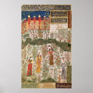 El príncipe persa Humay Meeting el chino Póster