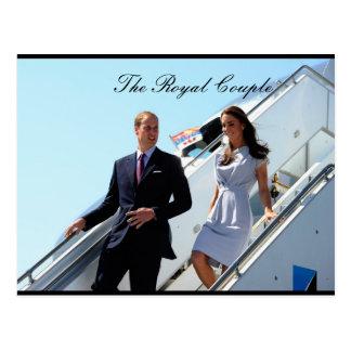 El príncipe real Guillermo y Kate MIddleton de los Tarjeta Postal