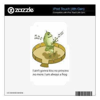 el príncipe real rana iPod touch 4G skins