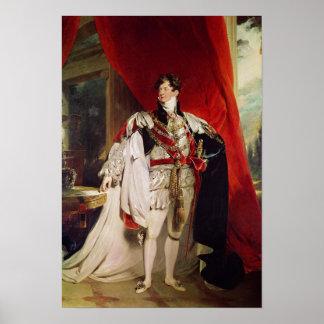El príncipe Regent, George IV posterior Póster