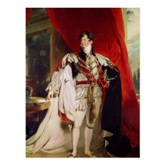 El príncipe Regent, George IV posterior Tarjeta Postal