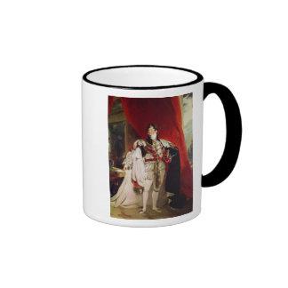 El príncipe Regent, George IV posterior Taza De Dos Colores