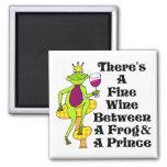 """El príncipe """"vino fino del vino entre la rana y el iman para frigorífico"""