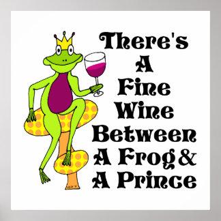 """El príncipe """"vino fino del vino entre la rana y el poster"""