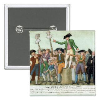 El principio de la Revolución Francesa Pin Cuadrado