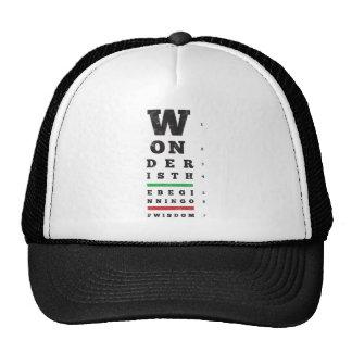 El principio de la sabiduría gorras de camionero