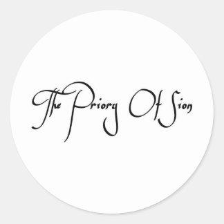 El priorato de Sion Pegatina Redonda