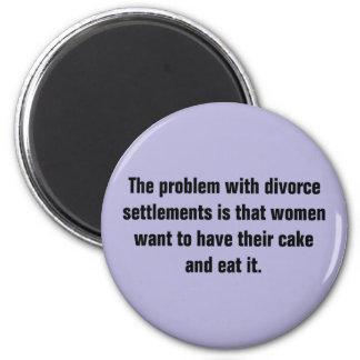 El problema con acuerdos del divorcio… imán redondo 5 cm