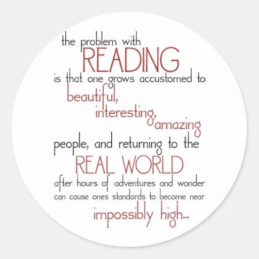 El problema con la lectura pegatina redonda
