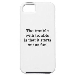 El problema con problema iPhone 5 carcasa
