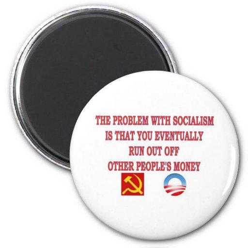EL PROBLEMA CON SOCIALISMO IMANES DE NEVERA