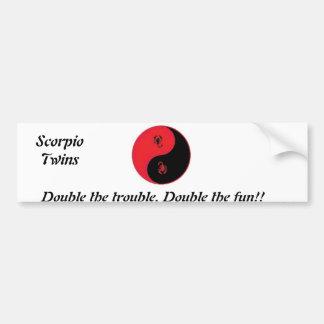 El problema doble. ¡La diversión doble! , Pegatina Para Auto