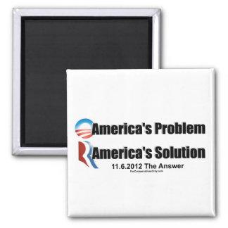 El Problema-Romney's de Obama la solución Imán Cuadrado