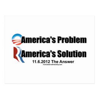 El Problema-Romney's de Obama la solución Postal