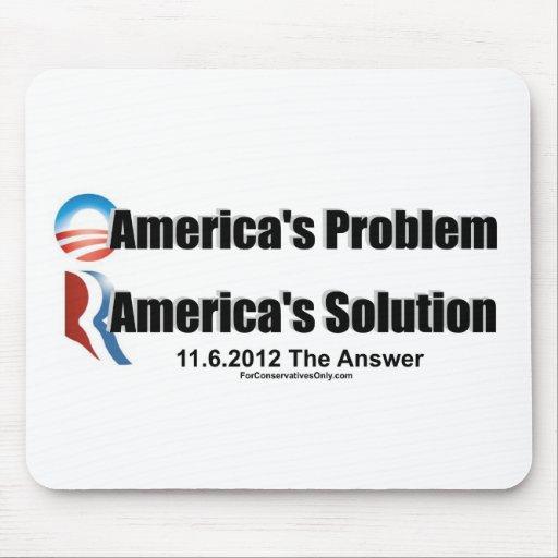 El Problema-Romney's de Obama la solución Alfombrilla De Ratones
