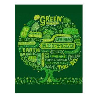 El problema verde - árbol del Día de la Tierra Tarjetas Postales