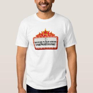 El procesador de textos legal más grande del mundo camisas