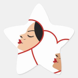 El proceso que broncea de la manera natural pegatina en forma de estrella