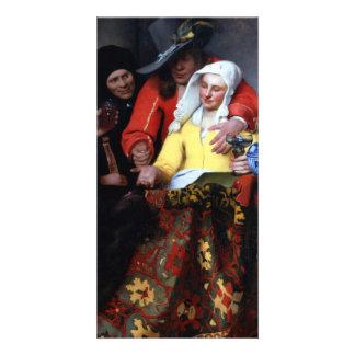 El Procuress de Juan Vermeer Tarjeta Fotografica