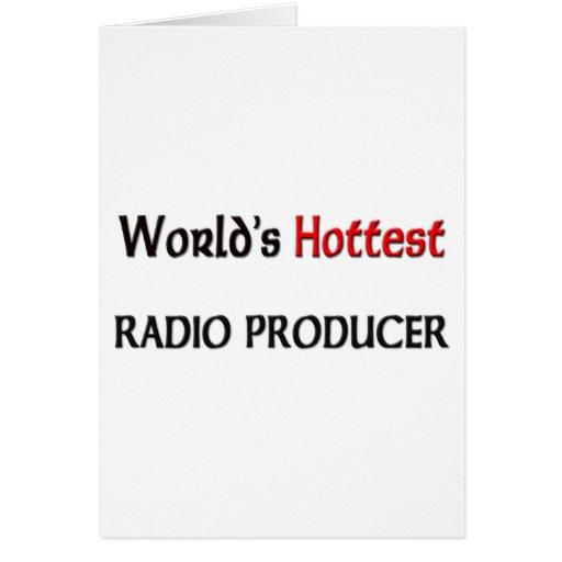 El productor de radio más caliente de los mundos tarjeta de felicitación