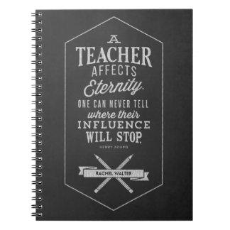 El profesor afecta a eternidad libreta espiral