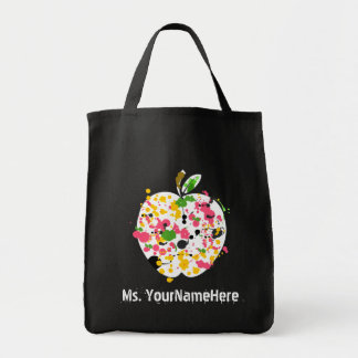 El profesor Apple pinta el bolso de ultramarinos d Bolsa