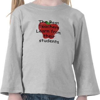 El profesor aprende de estudiantes camiseta