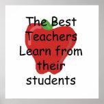 El profesor aprende de estudiantes poster