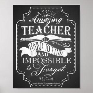 El profesor asombroso es imposible de olvidar póster