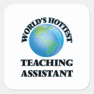 El profesor ayudante más caliente del mundo pegatina cuadrada