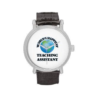 El profesor ayudante más feliz del mundo relojes de pulsera