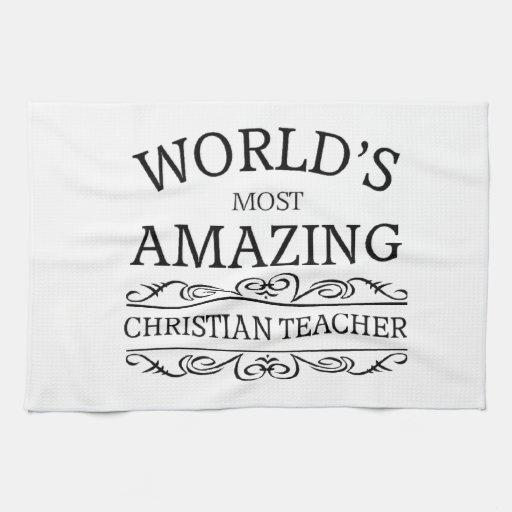 El profesor cristiano más asombroso del mundo toallas