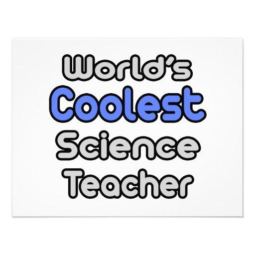 El profesor de ciencias más fresco del mundo invitación personalizada