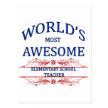 El profesor de escuela elemental más impresionante postal
