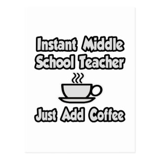 El profesor de escuela secundaria inmediato… tarjeta postal