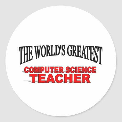 El profesor de informática más grande del mundo pegatina redonda