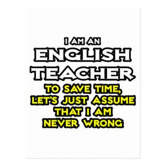 El profesor de inglés… asume que nunca soy postal