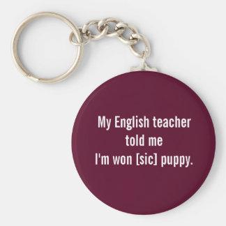 El profesor de inglés dice… llavero redondo tipo pin