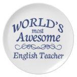 El profesor de inglés más impresionante del mundo plato de comida