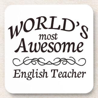 El profesor de inglés más impresionante del mundo posavasos de bebidas