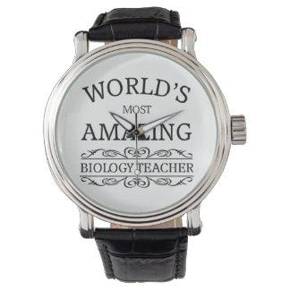 El profesor de la biología más asombroso del mundo relojes de pulsera
