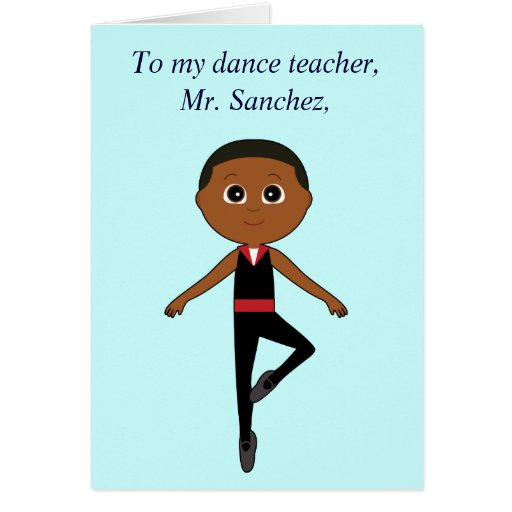 El profesor de la danza le agradece de bailarín de felicitacion