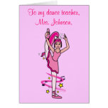 El profesor de la danza le agradece tarjeta adapta