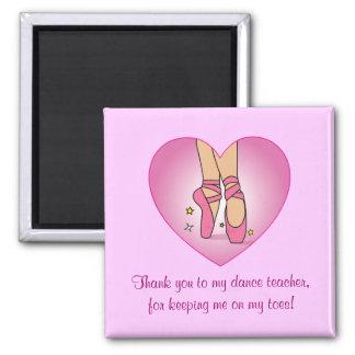 El profesor de la danza le agradece: Zapatos de ba Imanes De Nevera
