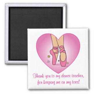 El profesor de la danza le agradece: Zapatos de Imán Cuadrado